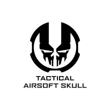 Airsoft Skull Logo Design