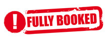 Fully Booked - Red Vector Rubber Stamp