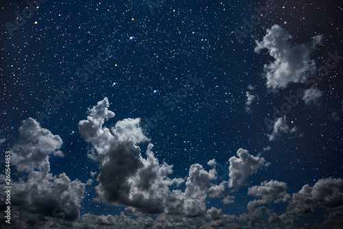 Keuken foto achterwand Nasa backgrounds night sky with stars and moon and clouds.