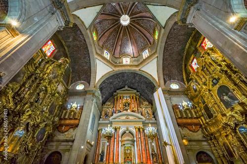 Fotografie, Obraz  Dome Basilica Altar Santo Domingo Church Mexico City Mexico