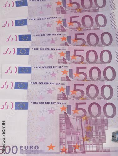 Fotografia  europe euros banknote of hundreds