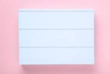 Blank Lightbox On Pink Background