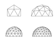 Geodesic Domes Illustration Ve...