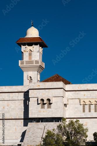 Fotografia  Minaret of Mosque and Islamic Center of Madrid, Spain