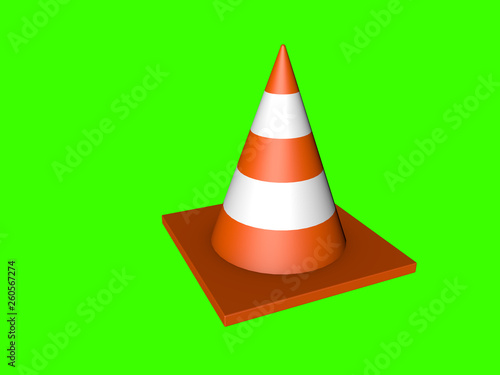 Fotografie, Obraz  Traffic cone in high quality