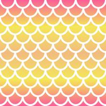 Mermaid Seamless Pattern. Gradient Mermaid Scale Background. Fish Scale Backdrop. Vector