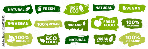 Fotografia Organic food labels