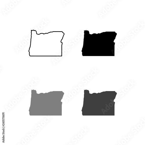 Fototapeta the map of Oregon. vector illustration obraz
