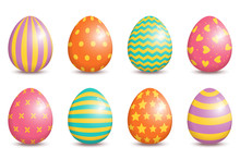 Set Of Realistic Easter Decora...