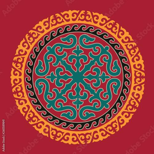 Obraz na płótnie Traditional ornament of Asian nomads