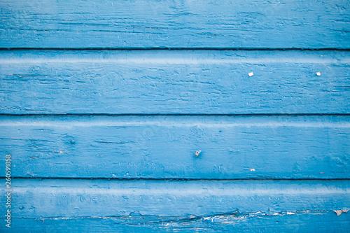 Poster Bois Blue wooden plank texture