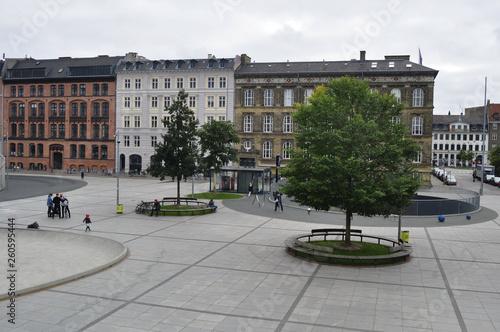 Photo  Square in Copenhagen, Denmark