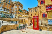 Vintage Phone Booth, Valletta, Malta