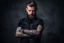 Portrait Of A Stylish Bearded ...
