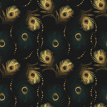 Seamless Pattern From Golden P...