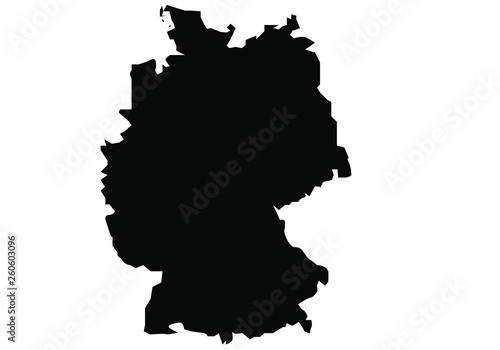 Fotomural map of Germany black