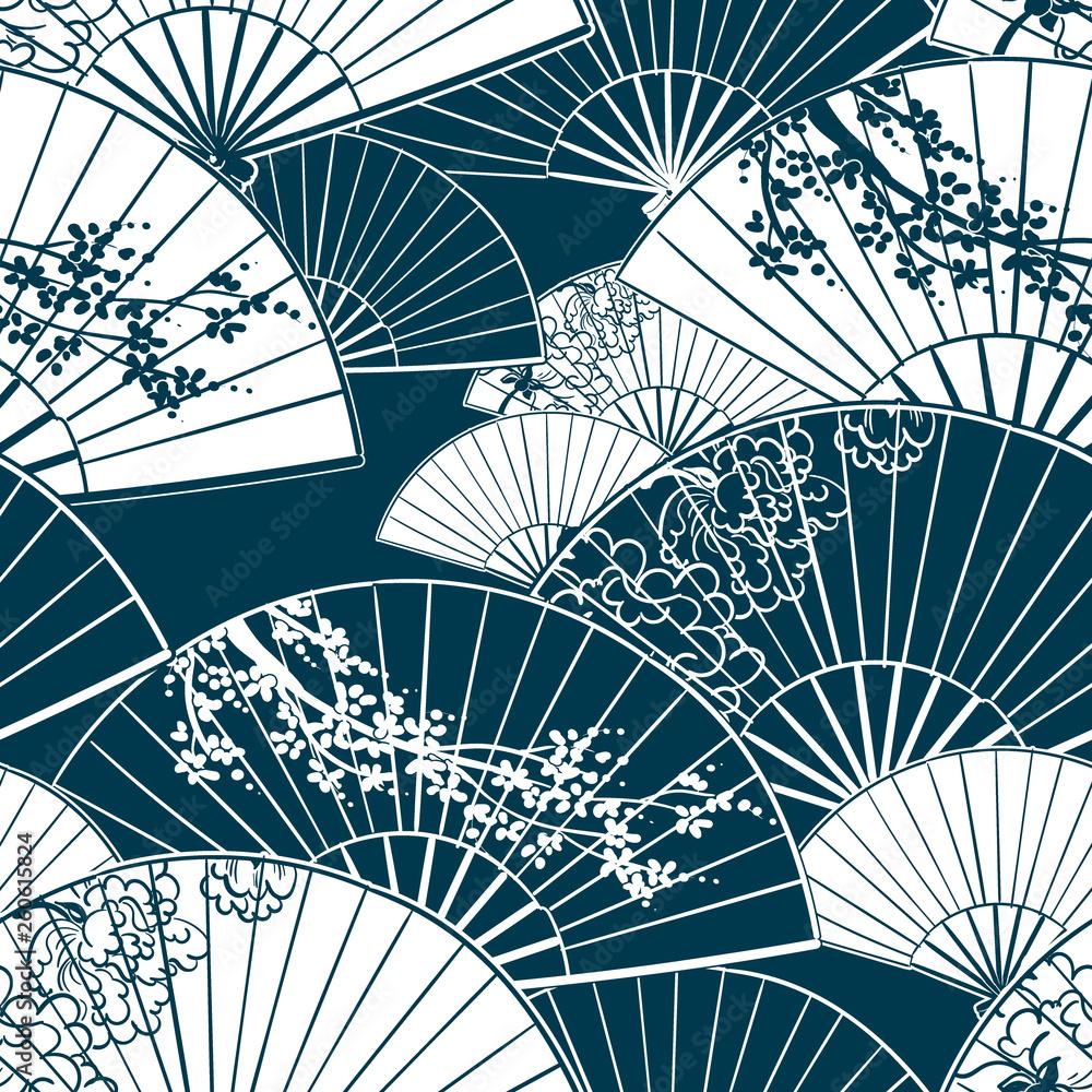 japanese traditional vector illustration fun pattern peony sakura