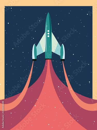 Obraz na plátne launch rocket explorer