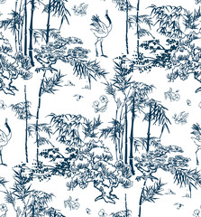Fototapeta Japoński bamboo vector japanese pattern nature pine traditional