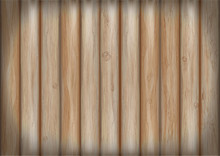 The Texture Of Wooden Boards. Vector Illustration Wooden Background. The Fence Of Wooden Planks.