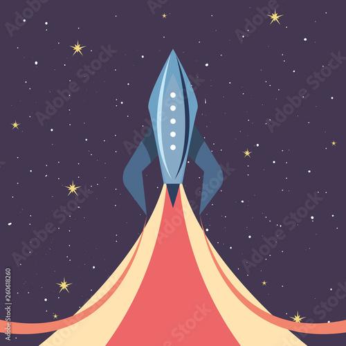 Fotobehang Hoogte schaal launch rocket explorer