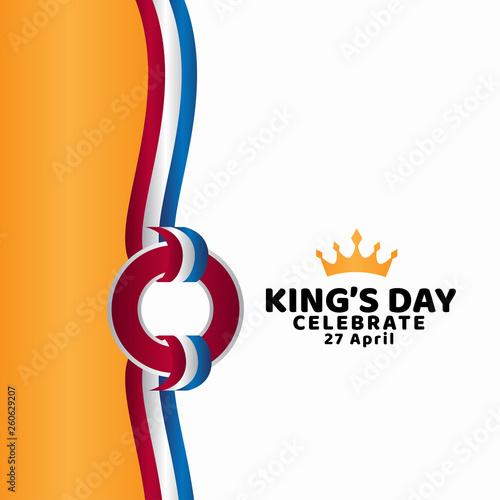 Fototapeta King's Day Celebrate Vector Template Design Illustration obraz na płótnie
