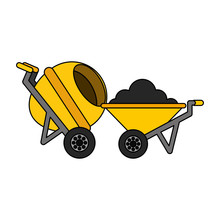 Construction Wheelbarrow Concrete Mixer