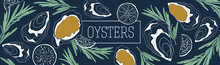 Oysters Banner Vector Template...