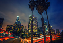 Night Traffic In Los Angeles, ...
