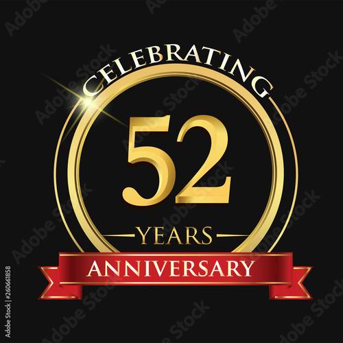 Fotografía Celebrating 52 years anniversary logo