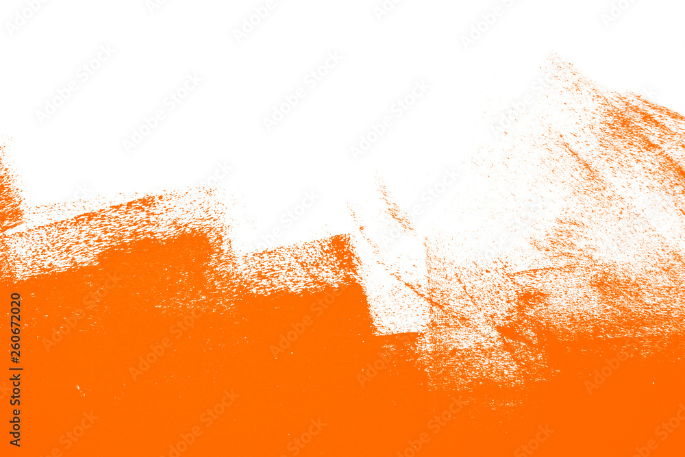 Fototapeta orange white  paint brush strokes background