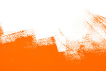 Orange White  Paint Brush Strokes Background