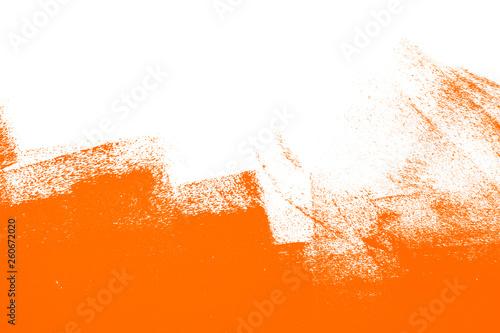 Foto orange white  paint brush strokes background