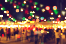 Blur Bokeh Night Festival Warm...