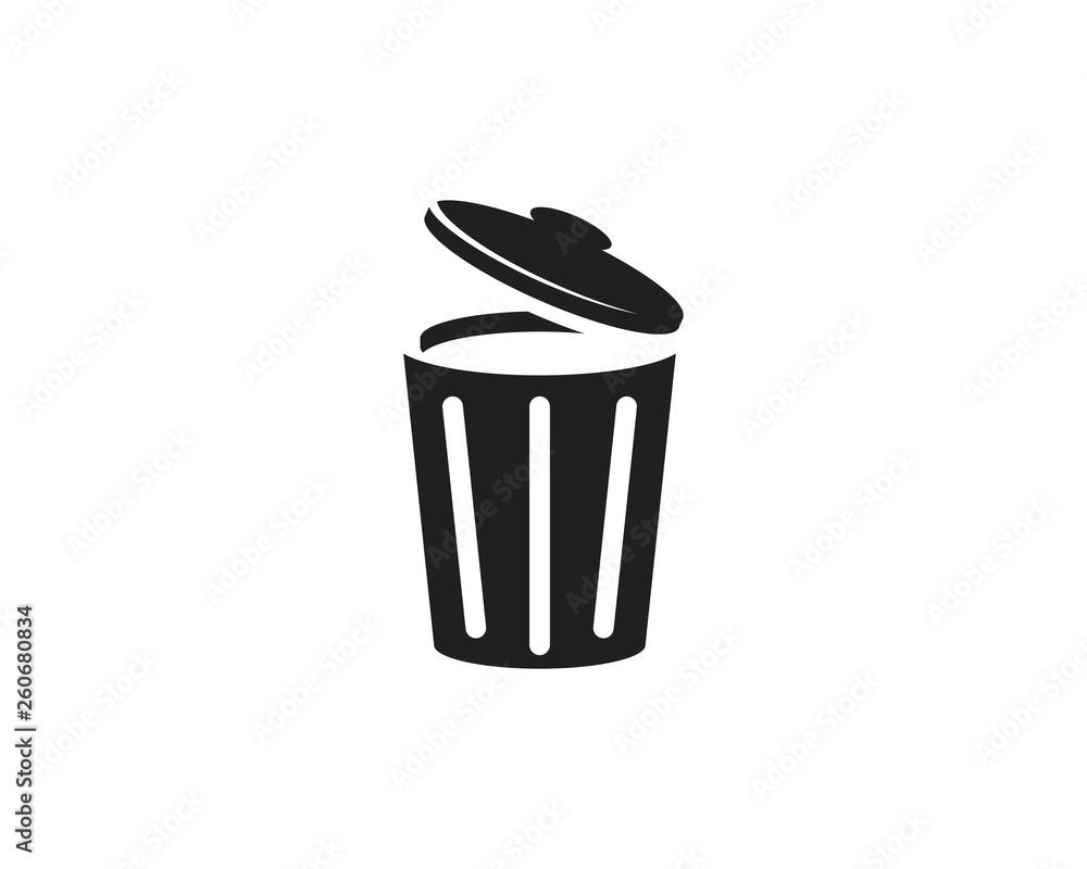 Fototapeta trash icons vector illustration