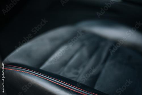 Photo Grey alcantara car seat