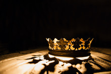 Crown Of The Real King On A Black Background. Game Of Thrones.
