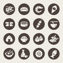 Asian Food Vector Icon Set