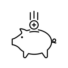 Collect Point Outline Icon. Cl...