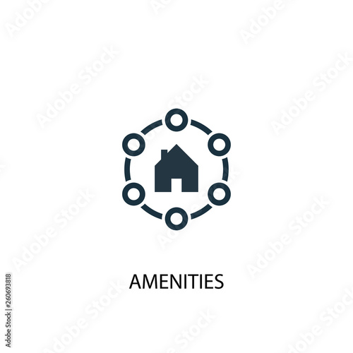 Amenities icon Wallpaper Mural
