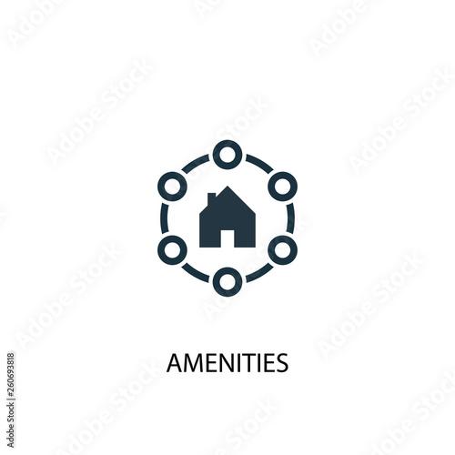 Amenities icon Canvas Print