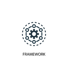 Framework Icon. Simple Element Illustration. Framework Concept Symbol Design. Can Be Used For Web And Mobile.