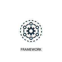 Framework Icon. Simple Element Illustration. Framework Concept Symbol Design. Can Be Used For Web And Mobile.