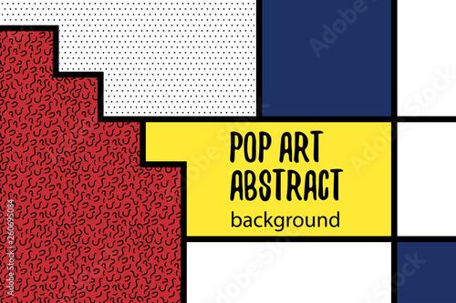 Valokuva  Pop art geometry mondrian style line back