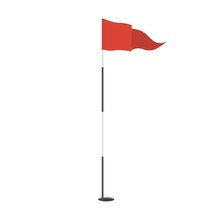 Red Triangular Golf Flag In Th...
