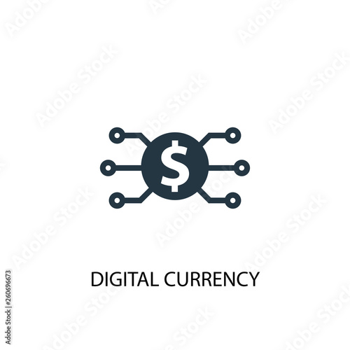 Fototapety, obrazy: digital currency icon. Simple element illustration. digital currency concept symbol design. Can be used for web and mobile.