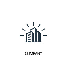 Company Icon. Simple Element Illustration. Company Concept Symbol Design. Can Be Used For Web And Mobile.
