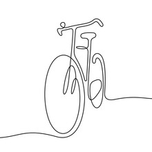 Bicycle Continuous Line Vector Illustration