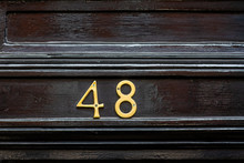 House Door Number 48 Or Forty-eight