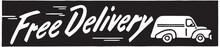 Free Delivery 2 - Retro Ad Art Banner